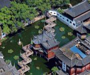 上海豫园俯视图